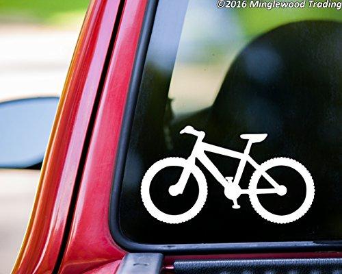 - Minglewood Trading Mountain Bike WHITE vinyl decal sticker 5.5