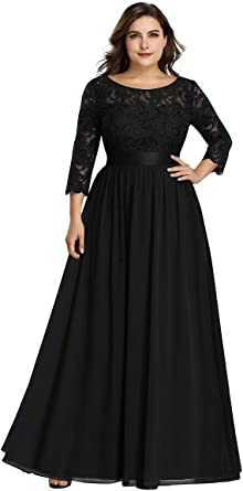 Amazon Com Alisapan Womens Plus Size Long Bridesmaid Dress Lace Formal Evening Wedding Party Dresses 7412 Clothing