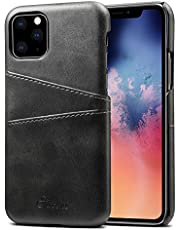 Elehome Slim PU Leather Back Case for iPhone 11 Series