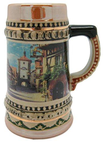 Ceramic Rothenburg Beer Stein Shot Glass-3