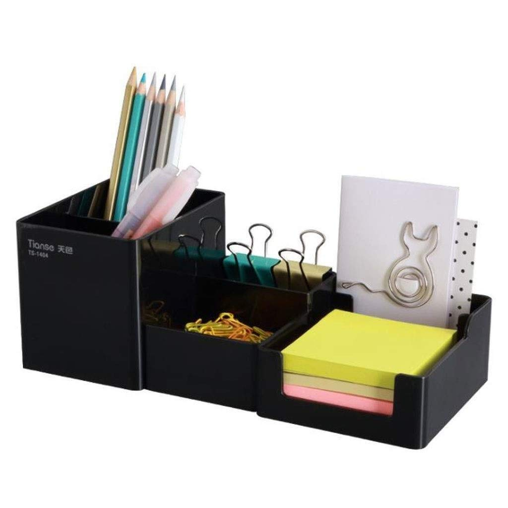 File Shelf Wooden - File Holder Racks, File Organi Desk Organiser, Fabric Desk Shelf for Office Supplies - Stationery Organiser - Large Box for Pens, Sticky Notes and Paper Clips, Black (color : BLACK by YCYG
