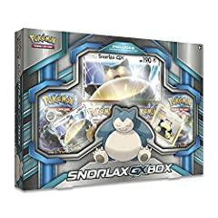 A sleeping giant Awakens: snorlax-gx! snorlax is powerful even in its sleep—and even more dangerous when it finally wakes up as a Pokemon! the Pokemon TCG: snorlax-gx box brings you the best of two styles of snorlax—a foil snorlax in the styl...