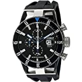 Locman Italy Men's 0512KNKBBKNKSIK Montecristo Professional Divers Chronograph Analog Display Quartz Black Watch