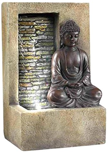 SINTECHNO SFT-1199 Buddha Table Top Water Fountain, (Fiberglass Resin Sculpture)
