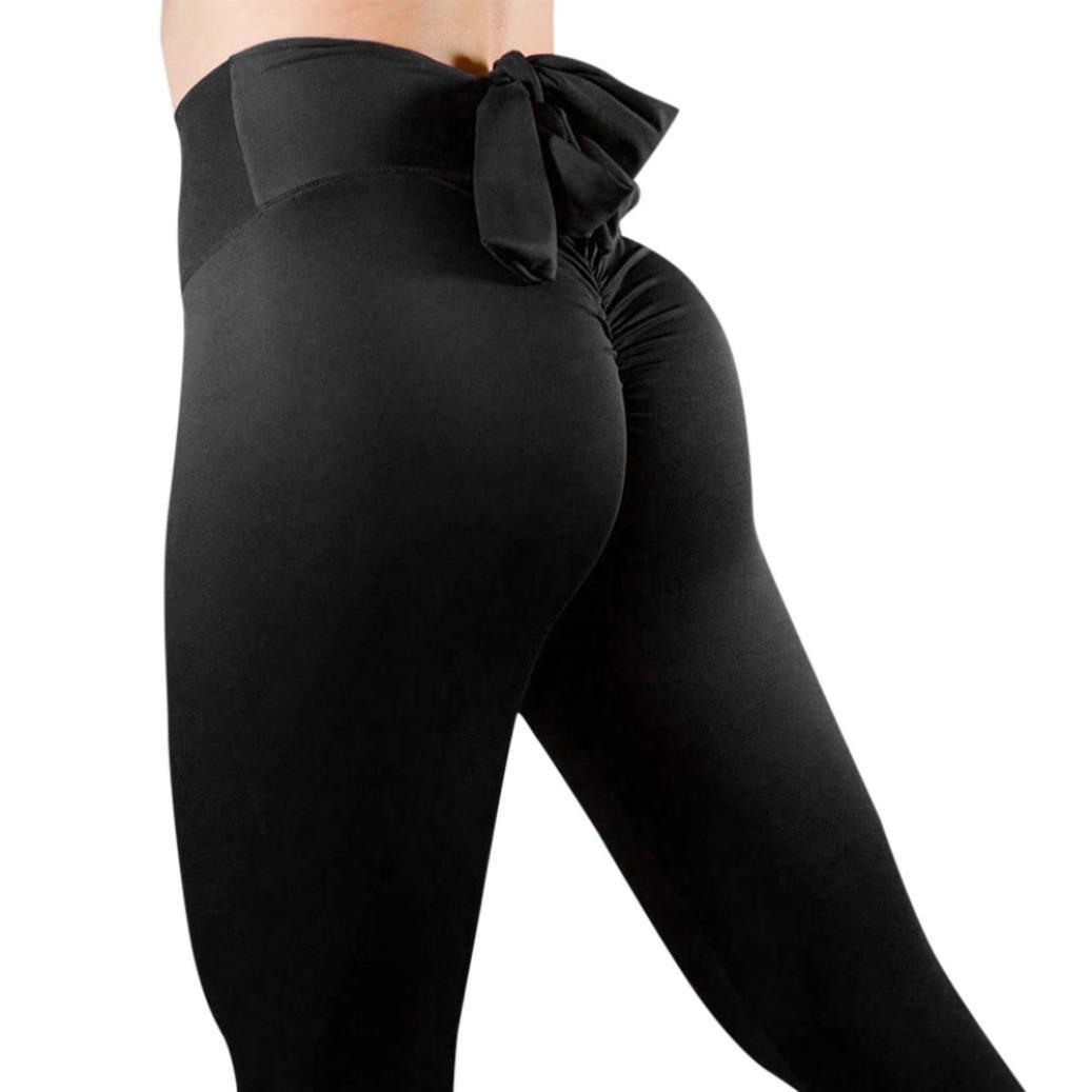 Homebaby Sportivi Donna Pantaloni Vita Alta Donna - Eleganti Sottile Yoga Leggings Sport Opaco Fitness Spandex Palestra Pantaloni Leggins Push Up- Pantaloni Capri Tuta Donna