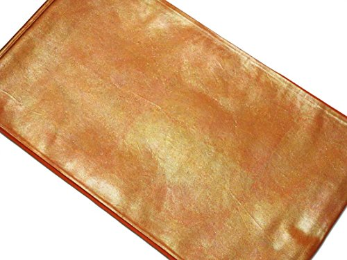 申請中遺産スマイルリサイクル袋帯 / 正絹赤茶地漆箔袋帯 / レディース【フリーサイズ】(ふくろおび 丸帯 中古帯 中古袋帯 リサイクル帯)【ランクB】