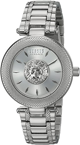Versus by Versace Women's 'Brick Lane' Quartz Stainless Steel Casual Watch, Color Silver-Toned (Model: S64010016)
