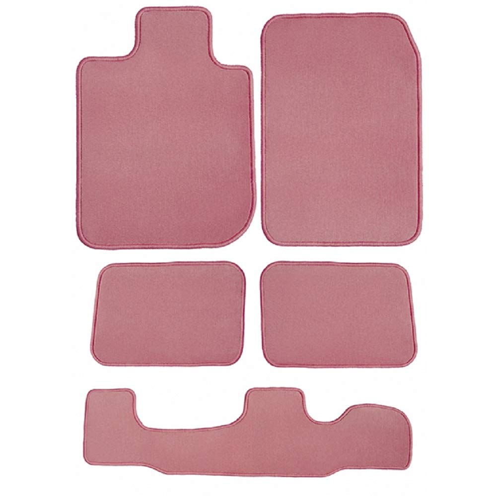 2018 5 Piece Floor Mats Passenger GGBAILEY D51458-LSB-PNK Custom Fit Car 2017 2nd /& 3rd Row 2019 GMC Acadia Pink Driver