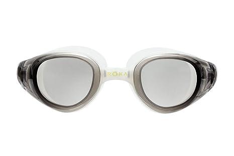 d7e7546185a Amazon.com  ROKA X1 Anti-Fog Low-Drag Large Mirror Swim Goggles for ...