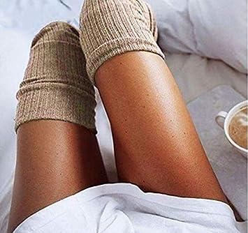 Botas de Algod/ón De Punto Muslos De Invierno Sobre Calcetines hasta La Rodilla Wiwi.f Calcetines hasta La Rodilla De Las Mujeres