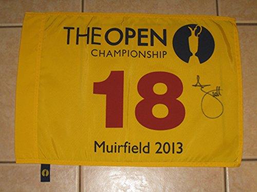 Adam Scott Autographed 2013 British Open Championship Flag PGA - COA