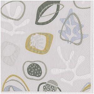 Caspari Kinetic Paper Cocktail Napkins in Grey, 20 Per Package, Gray