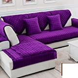 DW&HX winter Thicken Flannel plush Sofa cushions, Cover Anti-skidding Fabric Sofa cover Cushion-R 70x210cm(28x83inch)