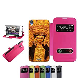 CASELABDESIGNS PROCELLANA DOLLS FUNDA TAPA PARA HTC DESIRE 820 FUCSIA-FUNDA PLEGABLE DE COLOR ROSA