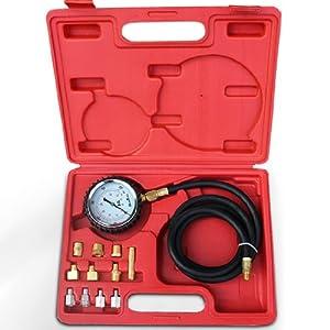 Compressiomètre d'huile - 13 pièces - pour moteur essence et diesel - avec mallette de transport