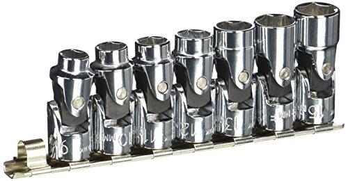 Blackhawk By Proto 207-M 6-Point Drive Metric Universal Joint Socket Set, 3/8-Inch, 7-Piece