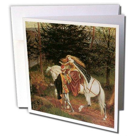 Crane Paper Wedding Invitations - 3dRose La Belle Dame Sans Merri By Walter Crane Greeting Cards, 6