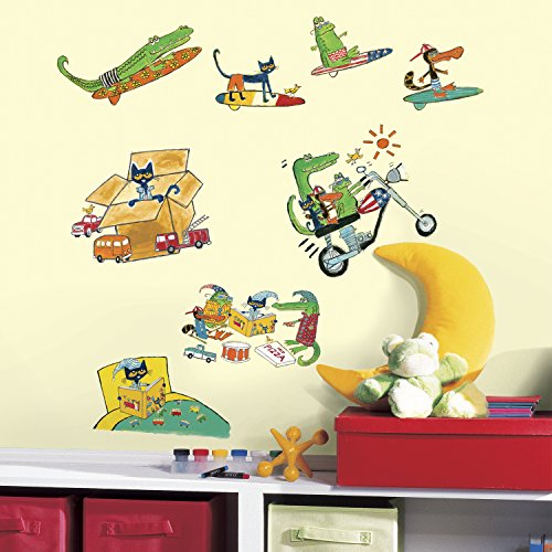 RoomMates RMK3287SCS Pete the Cat Peel and Stick Wall (Cats Peel)