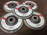 100 ALUMINUM OXIDE 40-GRIT 4'' SANDING GRINDING WHEEL FLAP DISC 5/8'' ARBOR ~ NEW