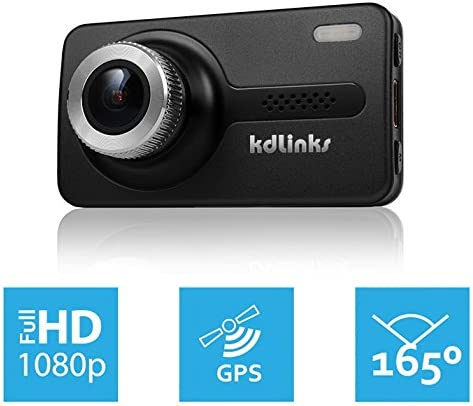 KDLINKS X1 Dash Cam With GPS And Night Vision