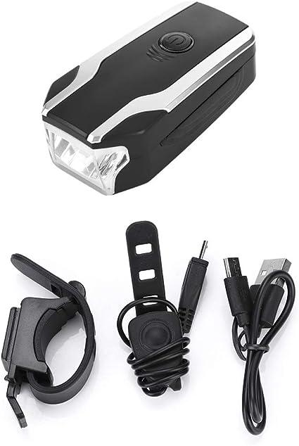 Solar USB Rechargeable Cycling MTB Road Bike Front Head Light Flashlight Lamp