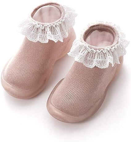 Baby Blumen Spitze Slippery Loch Baumwolle Fliege Boot Fußboden Mädchen Socken