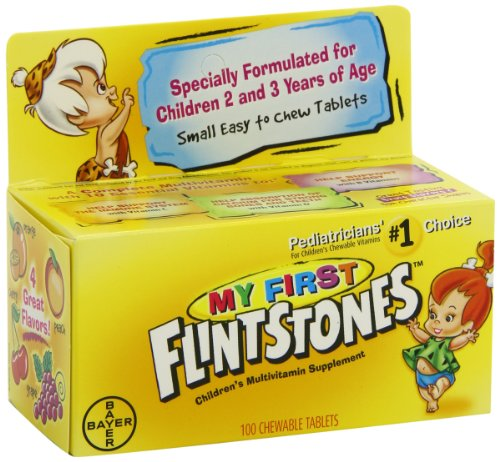 My First Flintstones Chewable Vitamins for Ages 2 to 3 Years, 100-Count Bottle, Health Care Stuffs