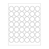 1-1/4 White Round Labels for Laser & Inkjet Printers | 1,050 1.25 in. Dots per Pack