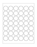 ChromaLabel 1-1/4 inch Round Labels for Laser & Inkjet Printers | 1,050/Pack (White)