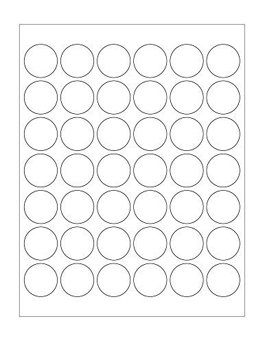 1-1/4 inch White Round Dot Labels for Laser/Inkjet – Permanent Adhesive, Matte Stickers – 25 Sheets Per Pack (Poker Chip Labels)
