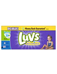 Luvs Diapers Ultra Leakguards With Night Lock Size 4 22-37 lb Big Value - 88 CT BOBEBE Online Baby Store From New York to Miami and Los Angeles