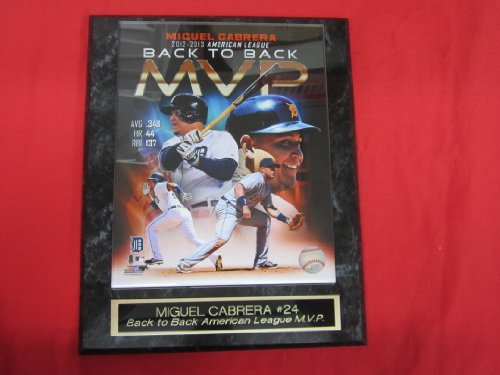 Miguel Cabrera BACK to BACK MVP Engraved Collector Plaque w/8x10 Photo