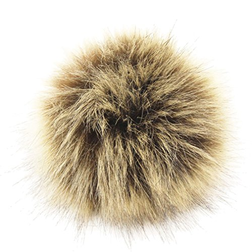 DIY 12pcs Faux Fox Fur Fluffy Pompom Ball for Hats Shoes Scarves Bag Charms ()