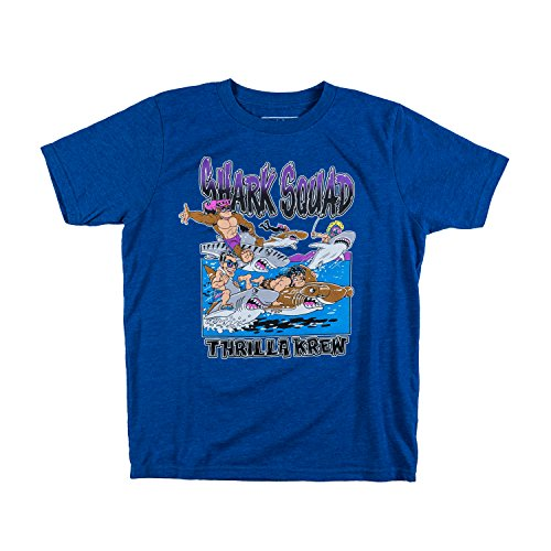 Shark Squad Youth Tee (Small, Blue)