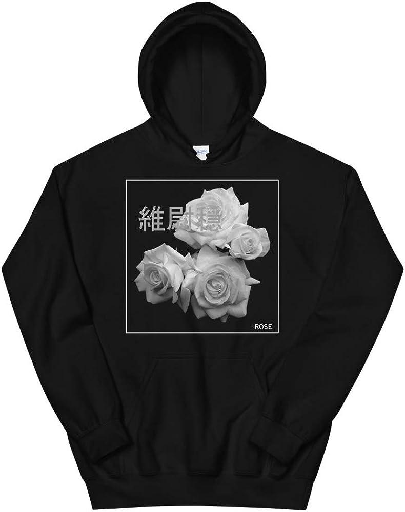 JG Infinite Gray Roses Vaporwave Aesthetic Unisex Hoodie