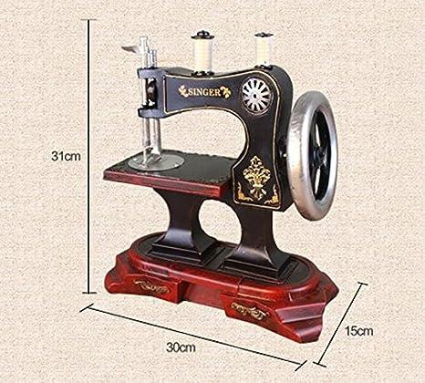 YYY-Tienda de muebles de decoración para el hogar máquina de coser Vintage modelo ropa adornos creativos bares pequeños artículos , 30x15x31: Amazon.es: ...