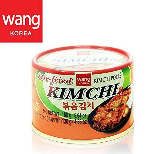 Korean Stir Fried Kimchi, Authentic Canned Napa Cabbage Original Tasteful Stir-Fry Kim Chi, Vegan Gluten Free No Preservatives - 5.64 oz (1 can)