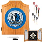 NBA Dallas Mavericks Wood Dart Cabinet Set