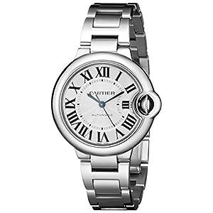 Cartier W6920071de la Mujer analógico automático para Hombre Plateado Reloj 3