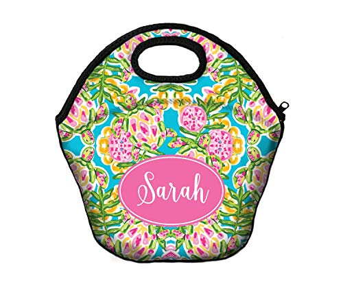 Teacher Gifts for Her Monogrammed Lunch Box Lunch Tote Personalized Insulated Lunch Bag For Women Lilly Inspired Custom Monogram Gifts