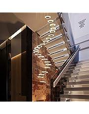 Wandlamp Plafond Slaapkamerlamp LED-kroonluchter voor hoge plafond villa trap rond opknoping hanger suspension lampen in spiraal trap loft moderne licht armatuur