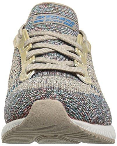 Skechers Bobs De Womens Bobs Squad-zig Zag Fashion Sneaker Taupe Multi
