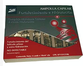 Ampollas Capilares Para El Cuidado y Crecimiento del Cabello 6 X 10 ml (FORTALECIMIENTO E