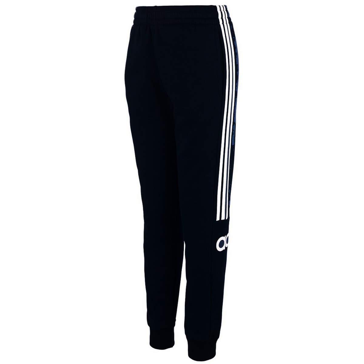 adidas Boys' Fleece Jogger Pant (S(8), Black Adi)