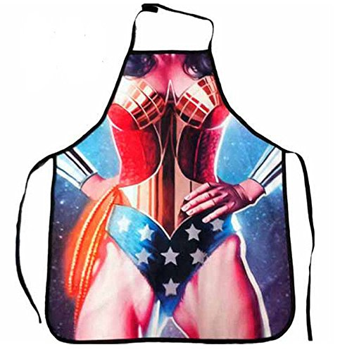 Af Kitchen : Sexy Cooking Wonder Woman Apron Novelty Funny Dinner Party BBQ (Wonder Cutter compare prices)