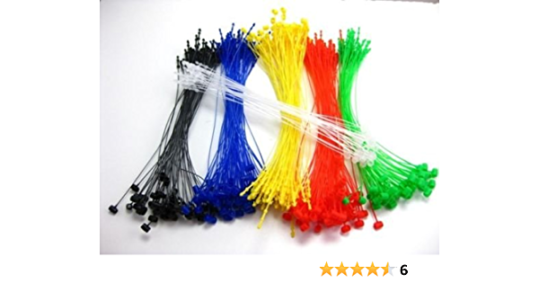 ULTECHNOVO 5000pcs Plastic Tags Fastener Black Snap Lock Pins Security Loop Price Tag Fastener for Retail Shop Clothing Jewelry 3 Inch