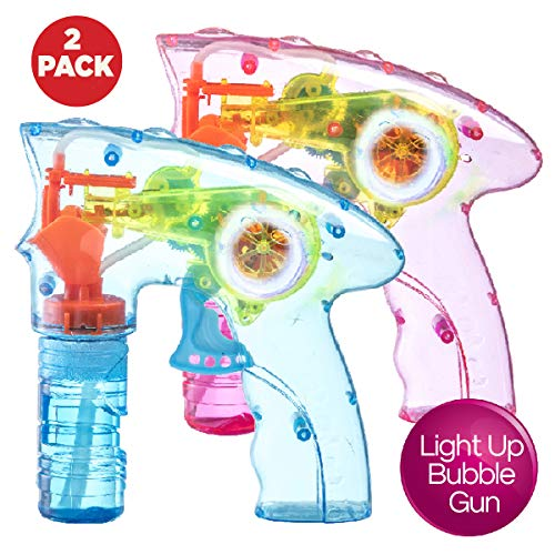 Led Light Up Bubble Gun in US - 4