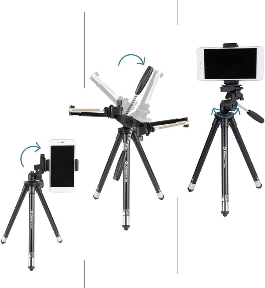 Vlogging//Streaming//Photography Hainter Phone Tripod 35 Adjustable Travel Video Tripod Stand Flexible Cell Phone Tripod for Video Recording