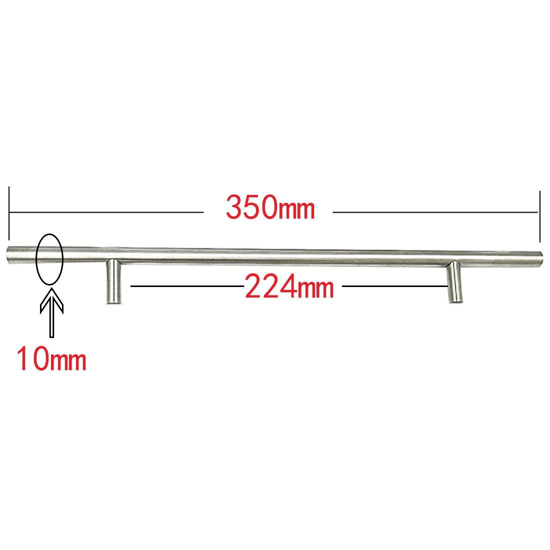 T Bar Griff Pull Knob Durchmesser 10mm Edelstahl K/üchent/ür Schrank 192 300mm