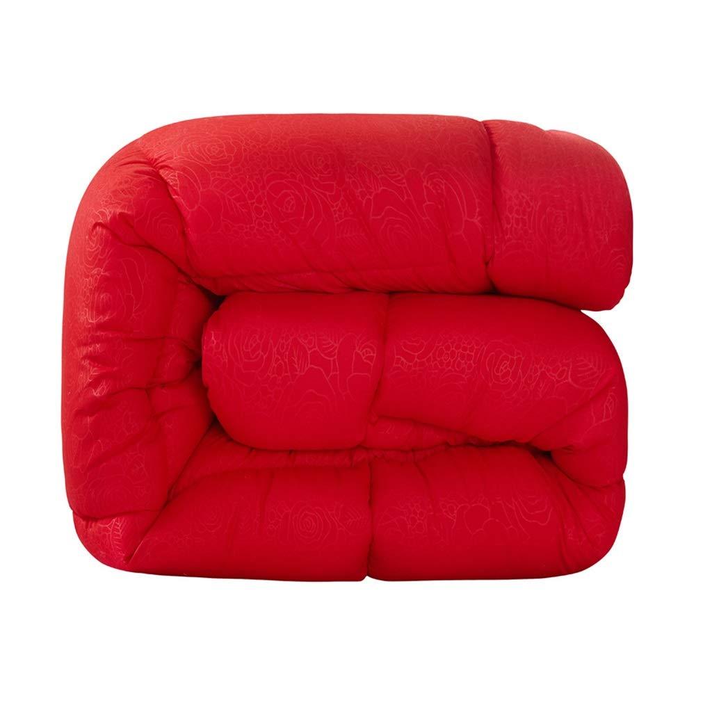 Amazon.com: Edredón de invierno color rojo, cálido y suave ...
